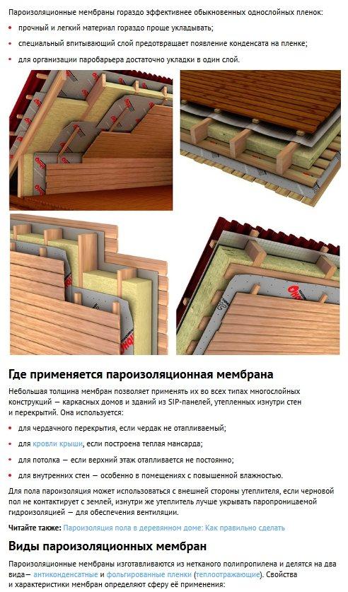 Как сделать пароизоляцию для пола в деревянном доме