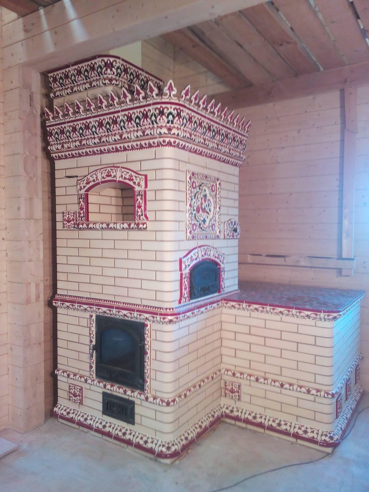 Русская печь с камином и лежанкой своими руками: порядовка, описание кладки, фото