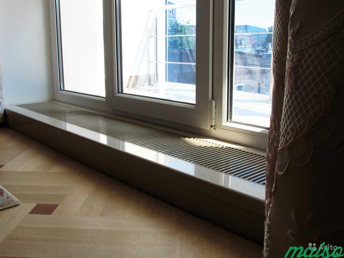 Узкий радиатор - низкие радиаторы отопления для панорамных окон