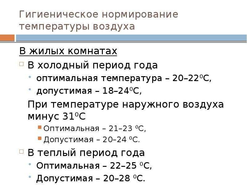 Норма температуры в квартире зимой