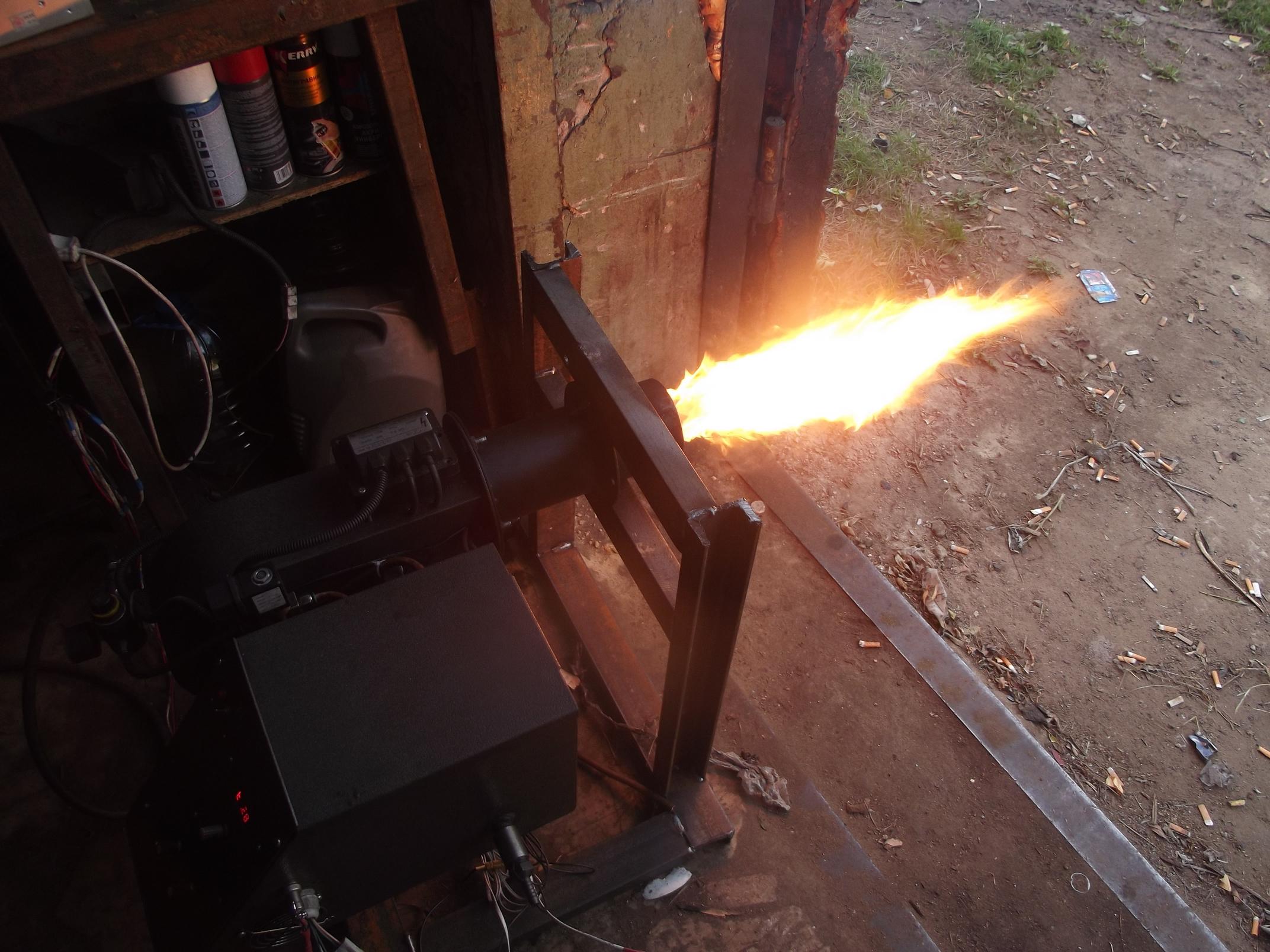 Самостоятельное изготовление горелки на отработанном масле