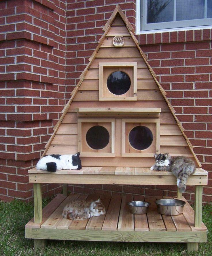 Уличный дом для кошек своими руками: чертежи, фото уличный дом для кошек своими руками: чертежи, фото