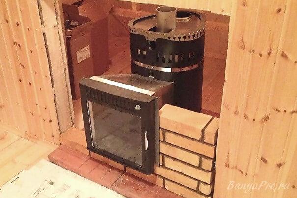 Установка печи в баню - все нюансы технологии монтажа