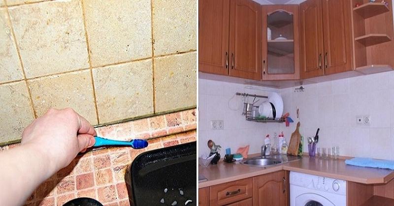 Как отмыть плитку на кухне от жира: народные средства и бытовая химия против въевшейся жирной грязи на полу и стенах