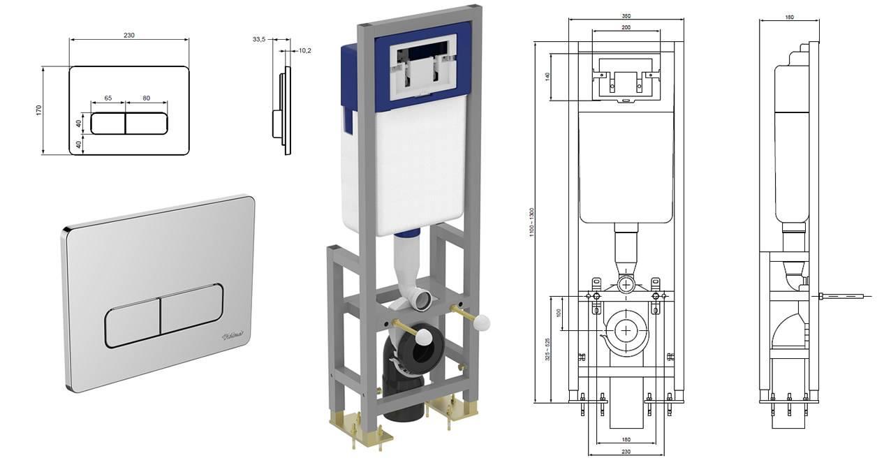 Установка подвесного унитаза с инсталляцией: тонкости монтажа