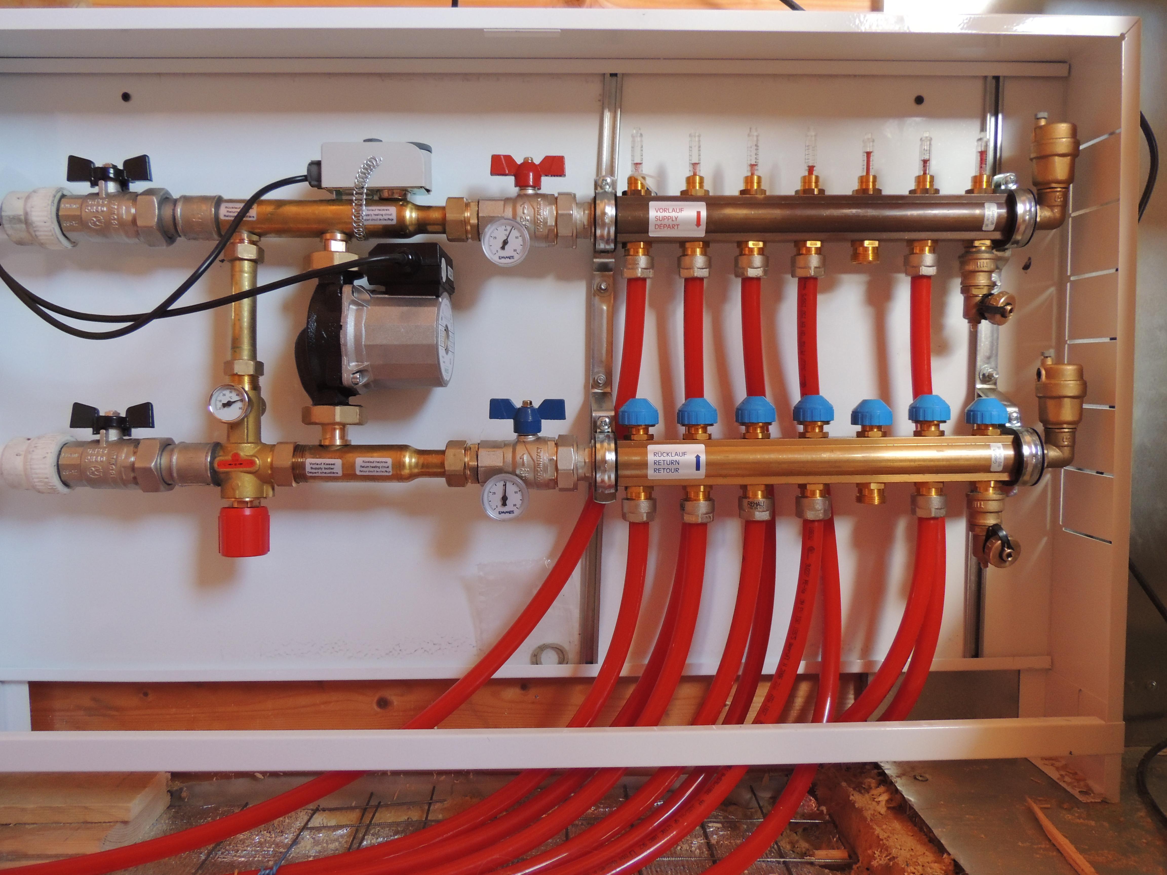 Принципы работы коллекторной системы отопления, монтаж коллекторной системы