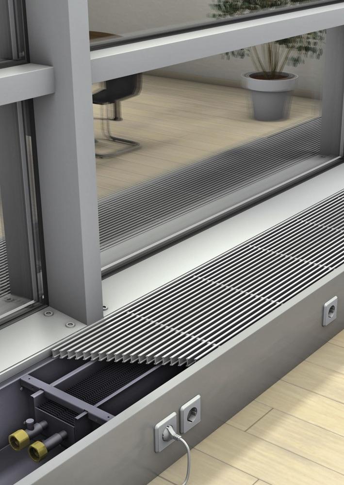 Внутрипольные конвекторы отопления: как выбрать, виды и характеристики, плюсы и минусы, инструкция по монтажу