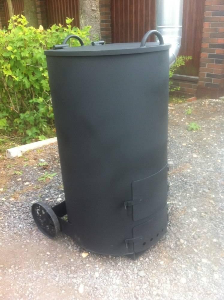 Печь для сжигания мусора на даче: особенности конструкций, готовый и самодельный вариант
