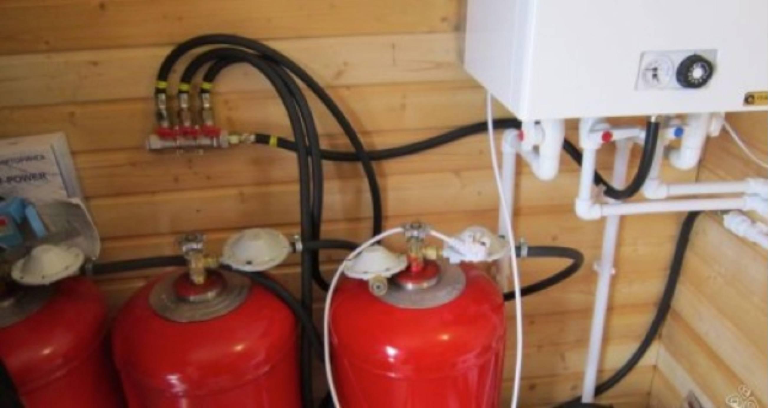 Отопление дома газовыми баллонами расход: котел от баллона 50 литров ля частного дома, сниженный газ и радиатор