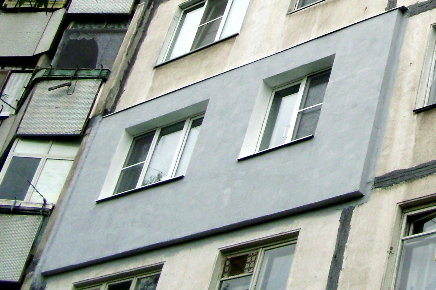 Утепление внешней стены панельного дома