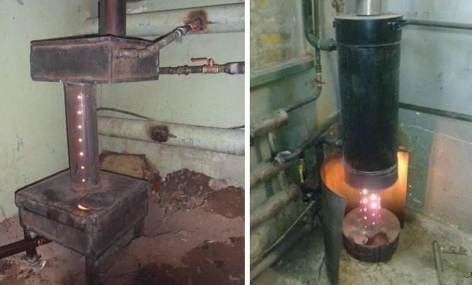 Печка на отработанном масле для дома: самодельная и готовая