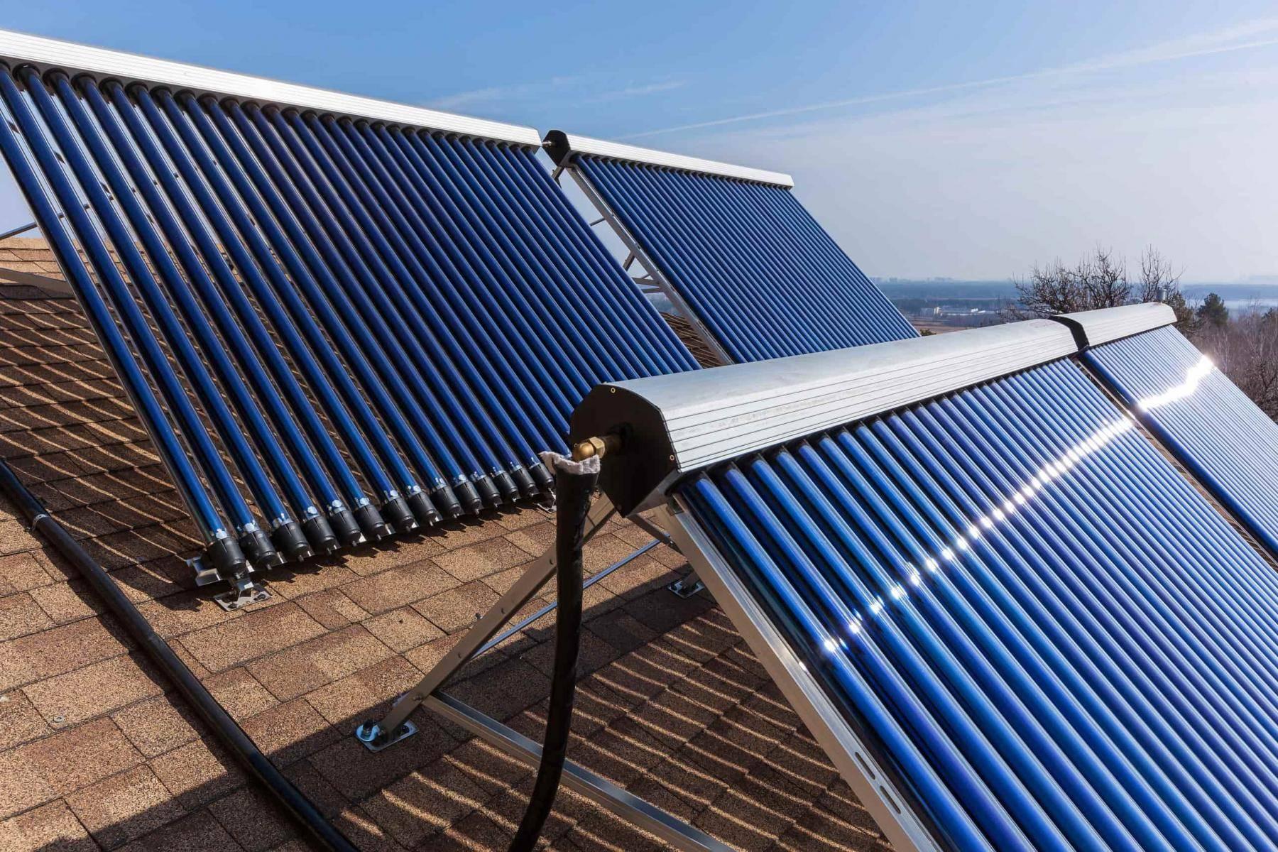 Отопление частного дома солнечными коллекторами