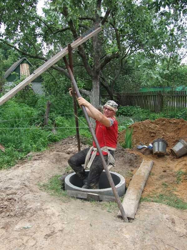 Колодец своими руками: делаем колодец из бетонных колец поэтапно