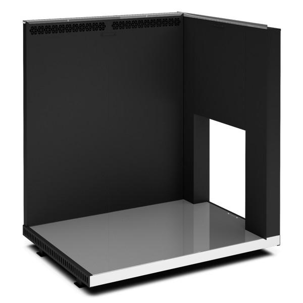 Тепловой экран из кирпича для банной печи