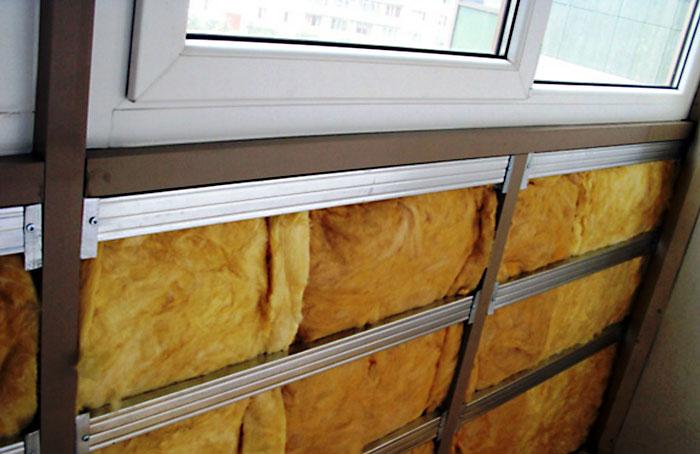 Утепляем балкон минеральной ватой
