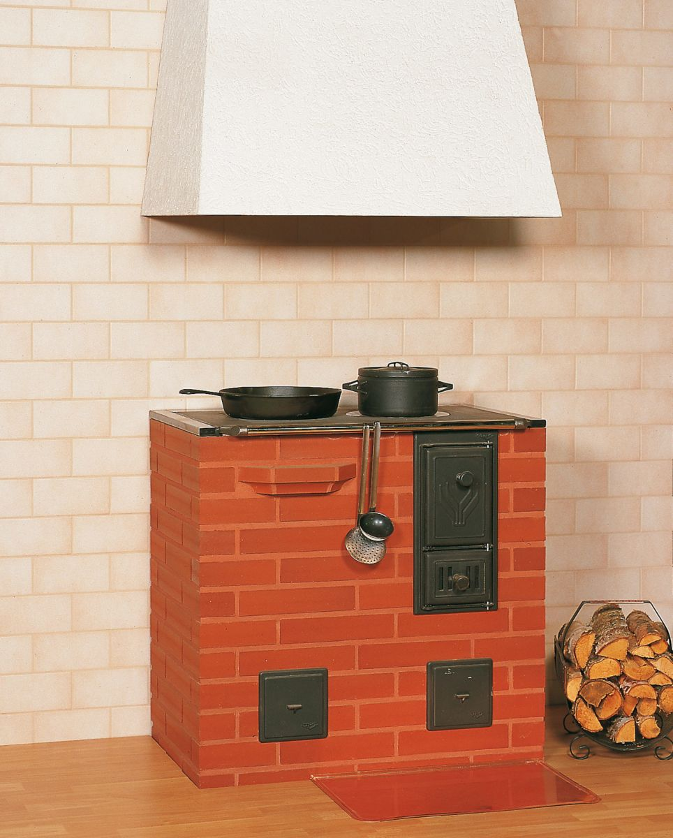 Установка кирпичной печи шведки с варочной плитой и духовкой своими руками