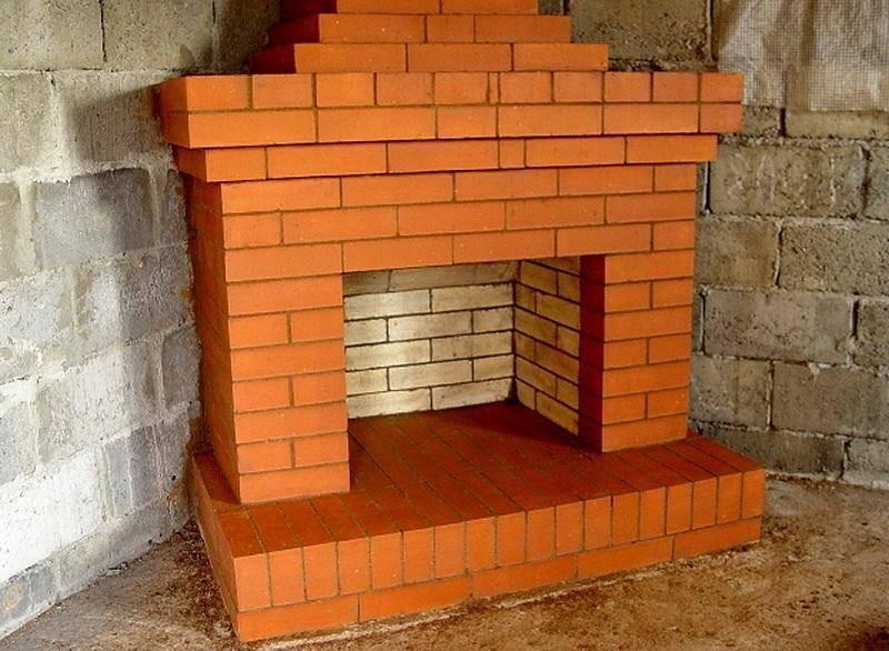 Примеры порядовки кирпичной кладки при постройке камина
