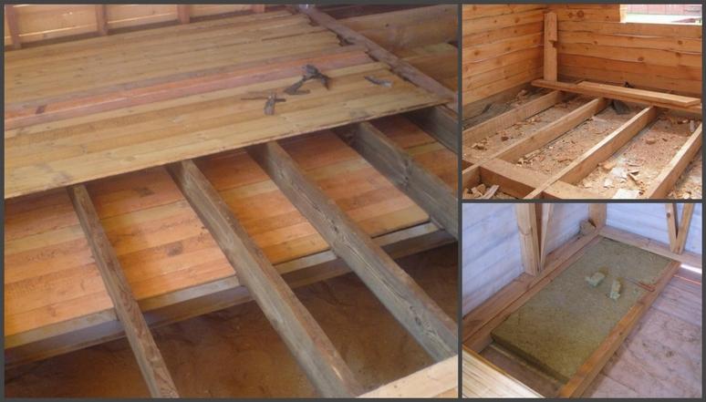 Чем и как утеплить пол в деревянном доме своими руками