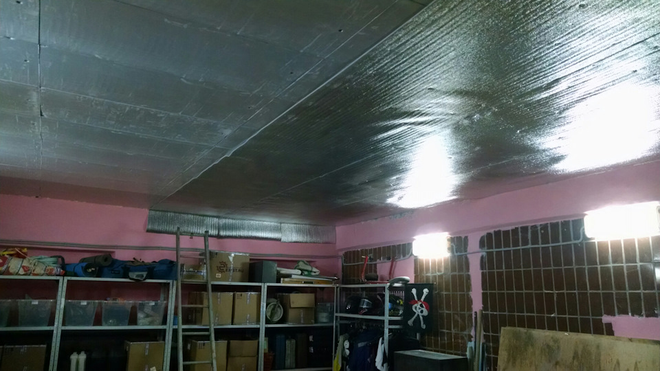 Как утеплить потолок в гараже - утепление своими руками