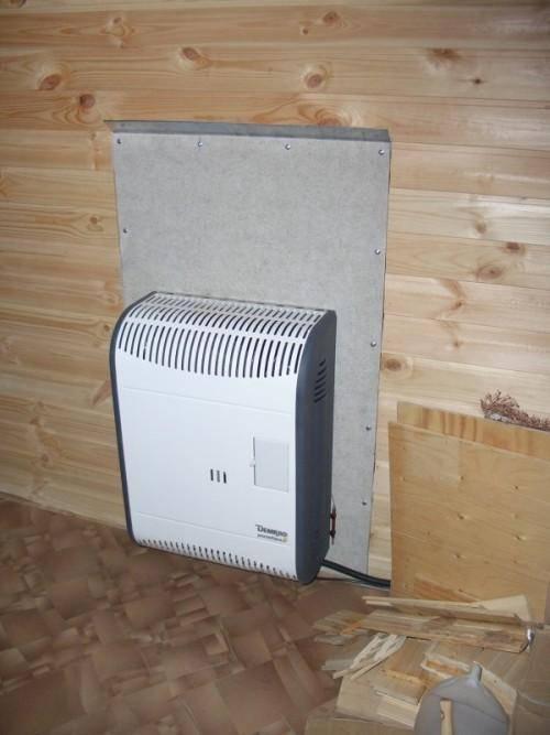 Установка конвекторных обогревателей на стену