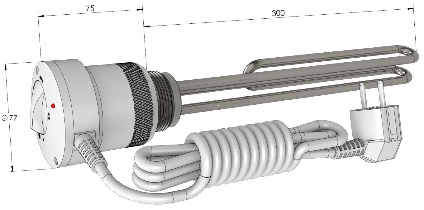 Электрические тэны с терморегулятором для батарей и котлов отопления