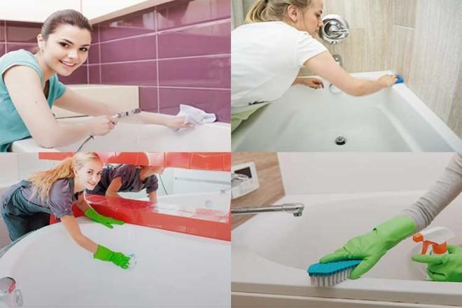 Как отмыть ванну от желтого налета в домашних условиях: народные средства