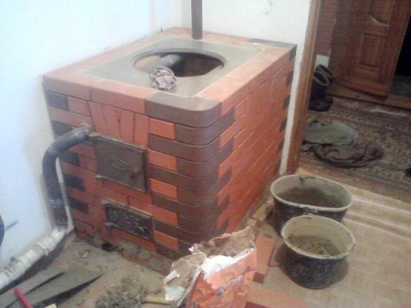 Как сделать отопительно-варочную печь с котлом водяного отопления