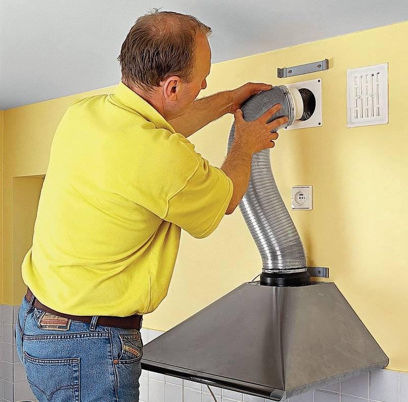 Правильный монтаж воздуховода, установка кухонной вытяжки