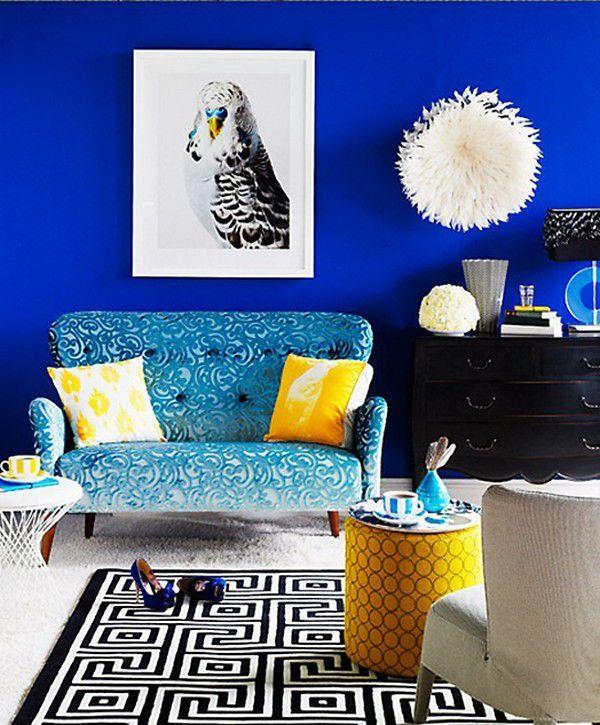 Синий цвет в интерьере [89 фото] сочетания цветов и дизайн