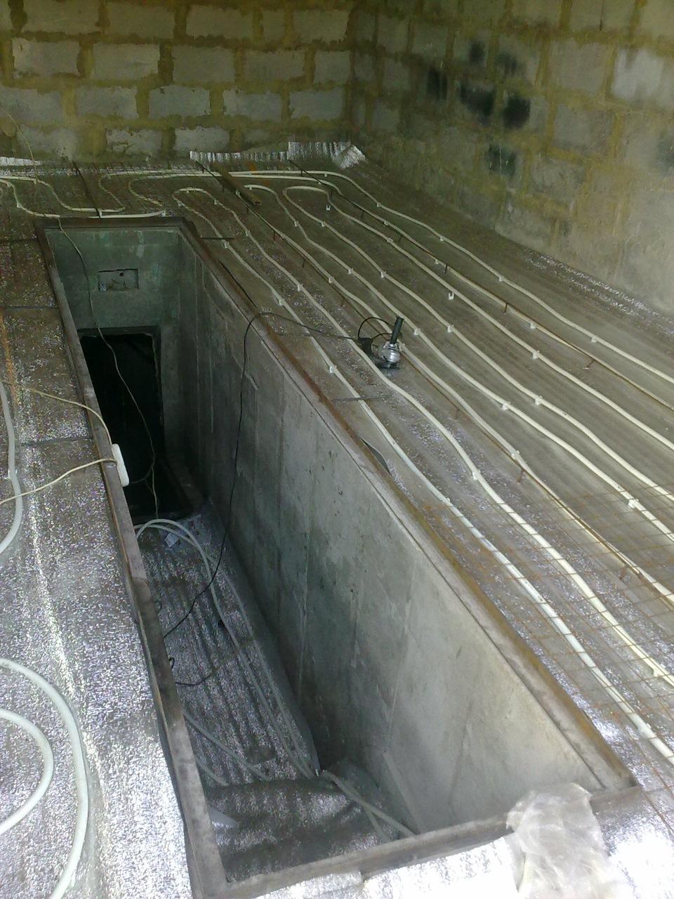 Как сделать теплый пол в гараже: электрический и водяной пол своими руками, монтаж от отопления