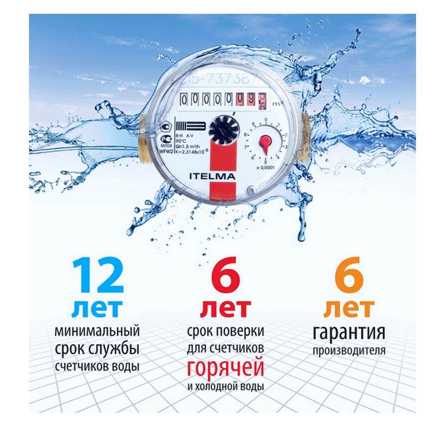 Сроки поверки счетчиков холодной и горячей воды, периодичность, правила, закон