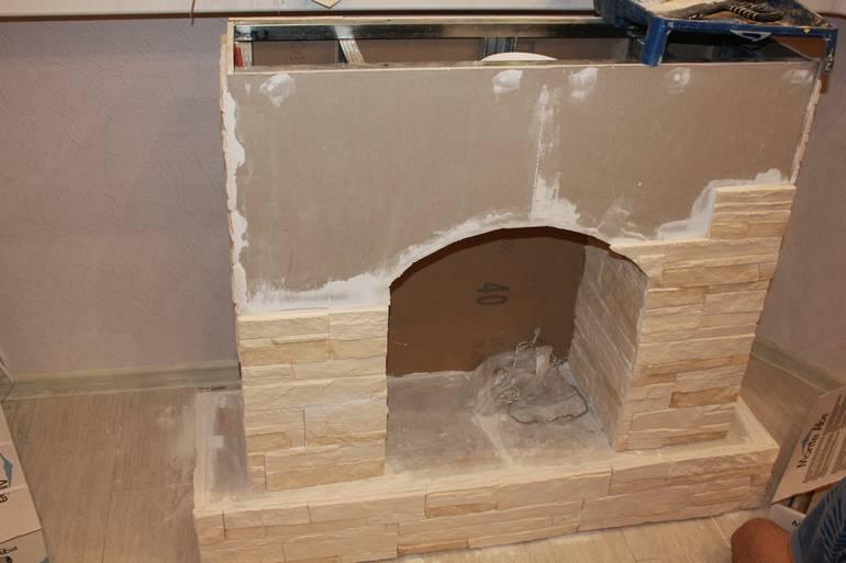 Камин из гипсокартона, как построить своими руками декоративный фальш-камин
