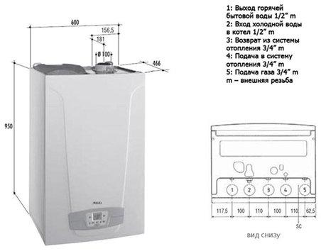 Котёл газовый двухконтурный настенный baxi: инструкция по эксплуатации, а так же описание неисправностей и отзывы пользователей