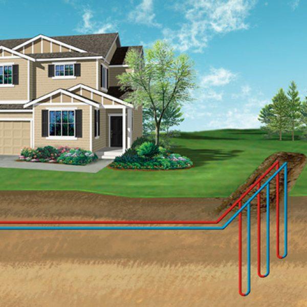 Геотермальное отопление дома - теплом земли, видео