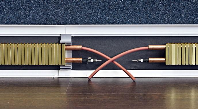 Теплый плинтус: тонкости подбора и установки