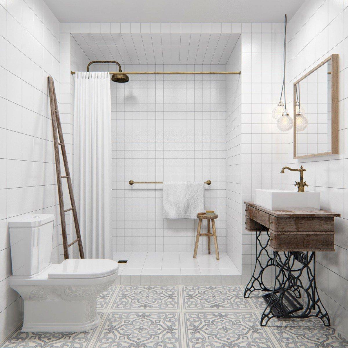 Ванная комната в скандинавском стиле: идеи интерьера