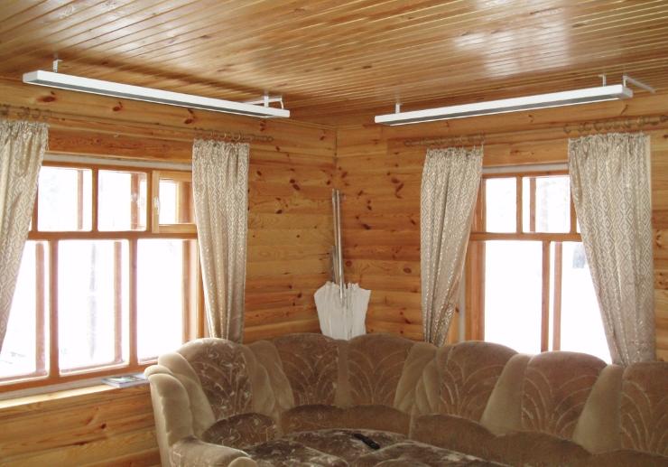 Как установить потолочный инфракрасный обогреватель эколайн