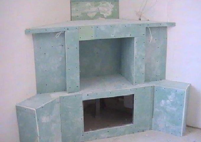 Камин своими руками из гипсокартона — инструкция изготовления