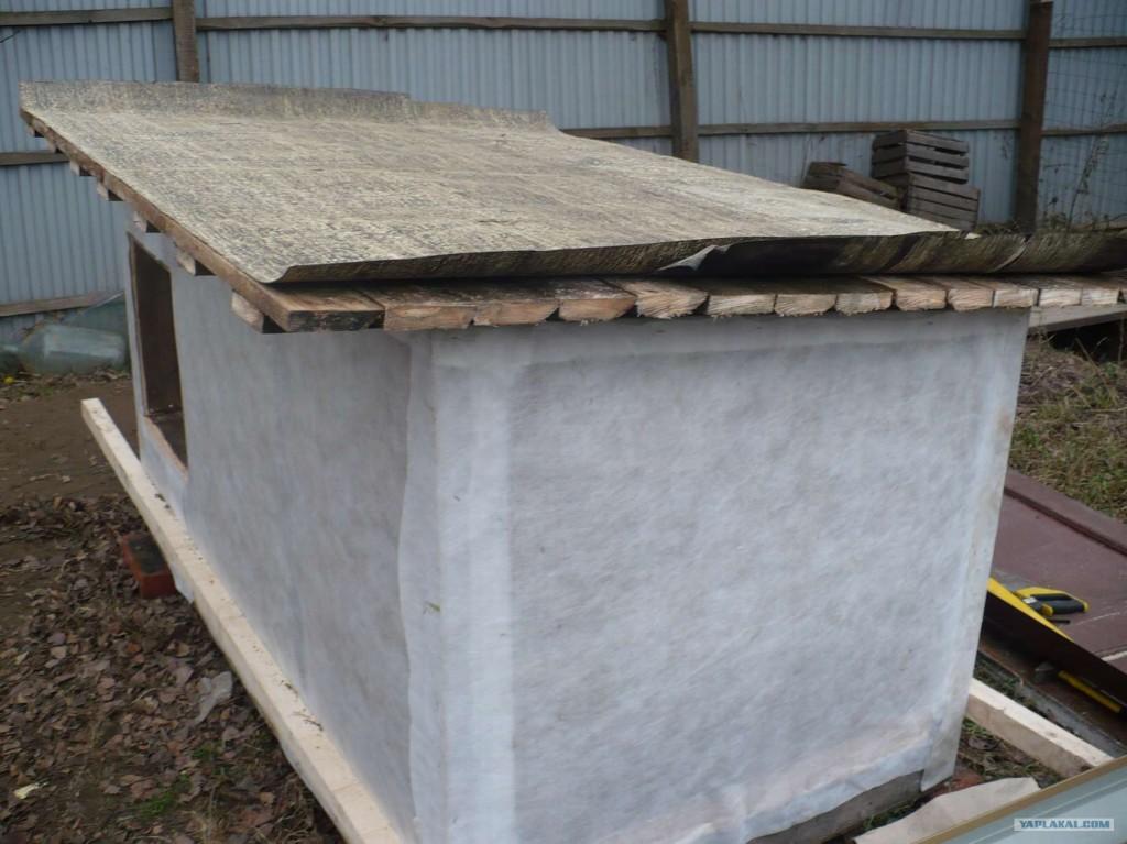 Утепленная будка для собаки (снаружи и изнутри): как сделать своими руками, чем можно, размеры для больших пород, с тамбуром и подогревом на зиму