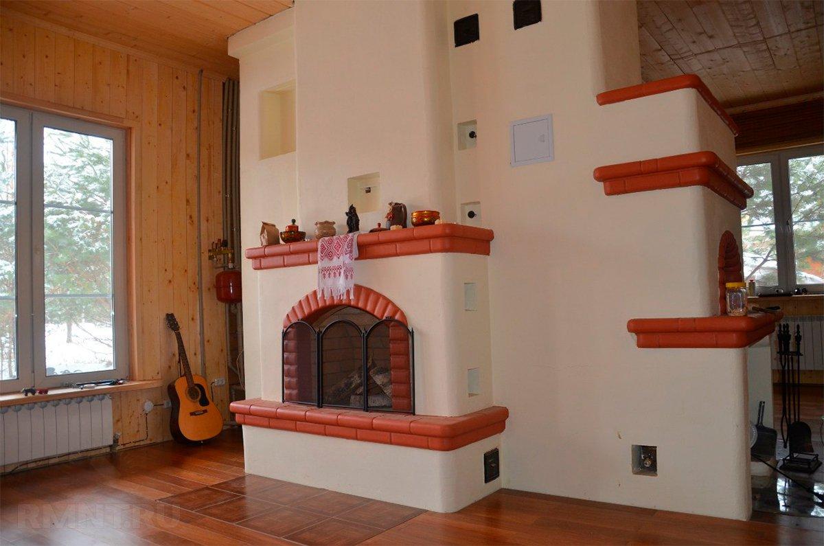 Современные русские печи в интерьере дома, фото печек в домах, удачные варианты кладки печей