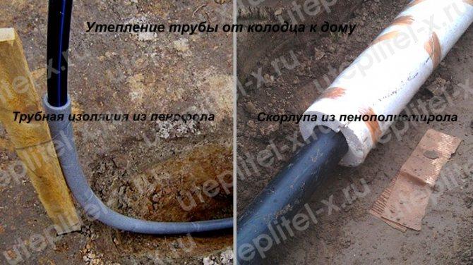 Утепление водопроводных труб в земле и на улице