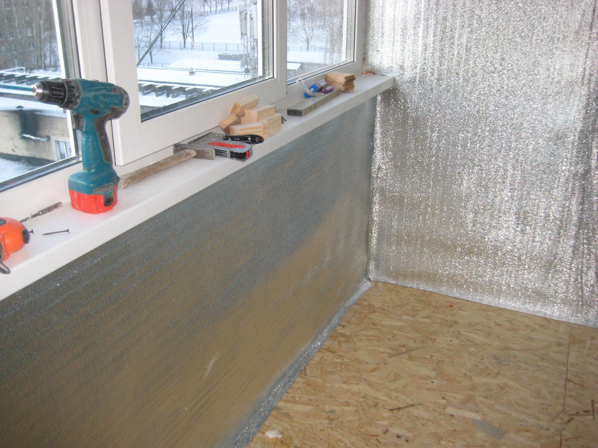 Освоение квадратных метров лоджии: 6 дешевых материалов для утепления