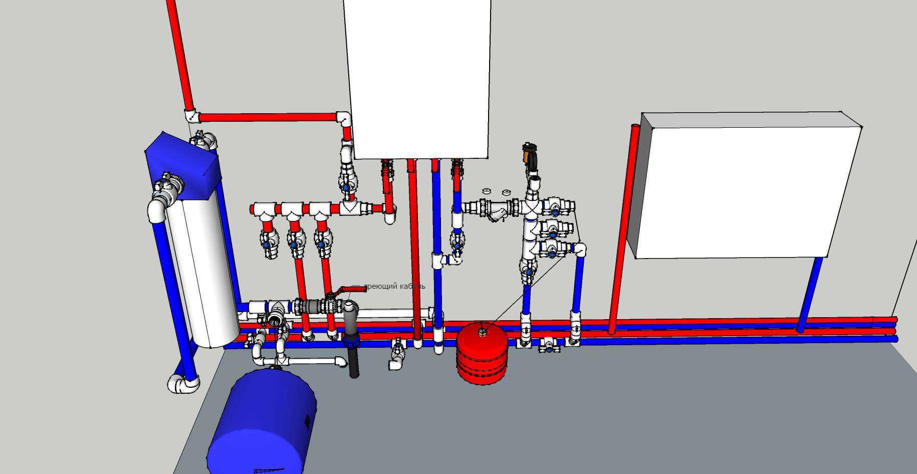Обвязка котла отопления в частном доме: схема для напольных и настенных котлов