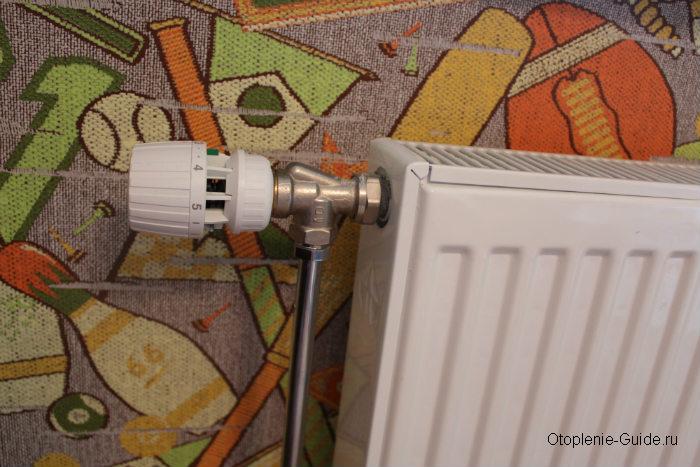 Установка термостата на батарею отопления