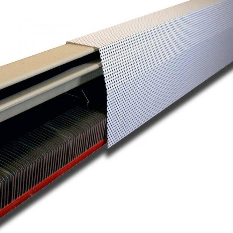 Электрическое и водяное плинтусное отопление