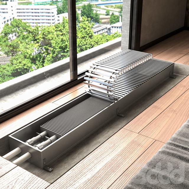 Внутрипольные водяные конвекторы отопления: эффективно и современно