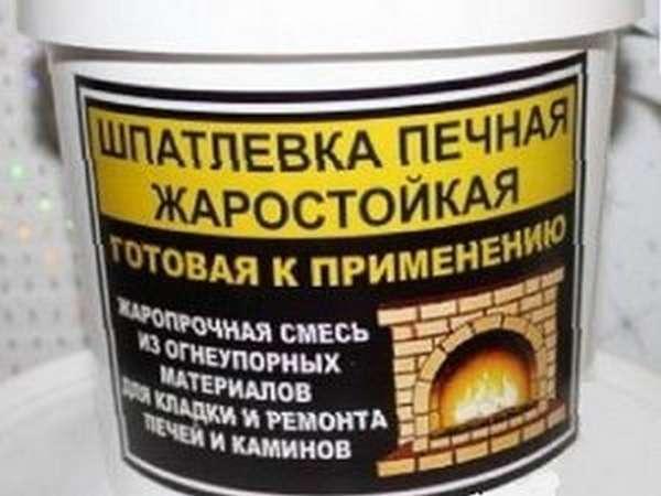 Огнеупорная шпаклевка для печи