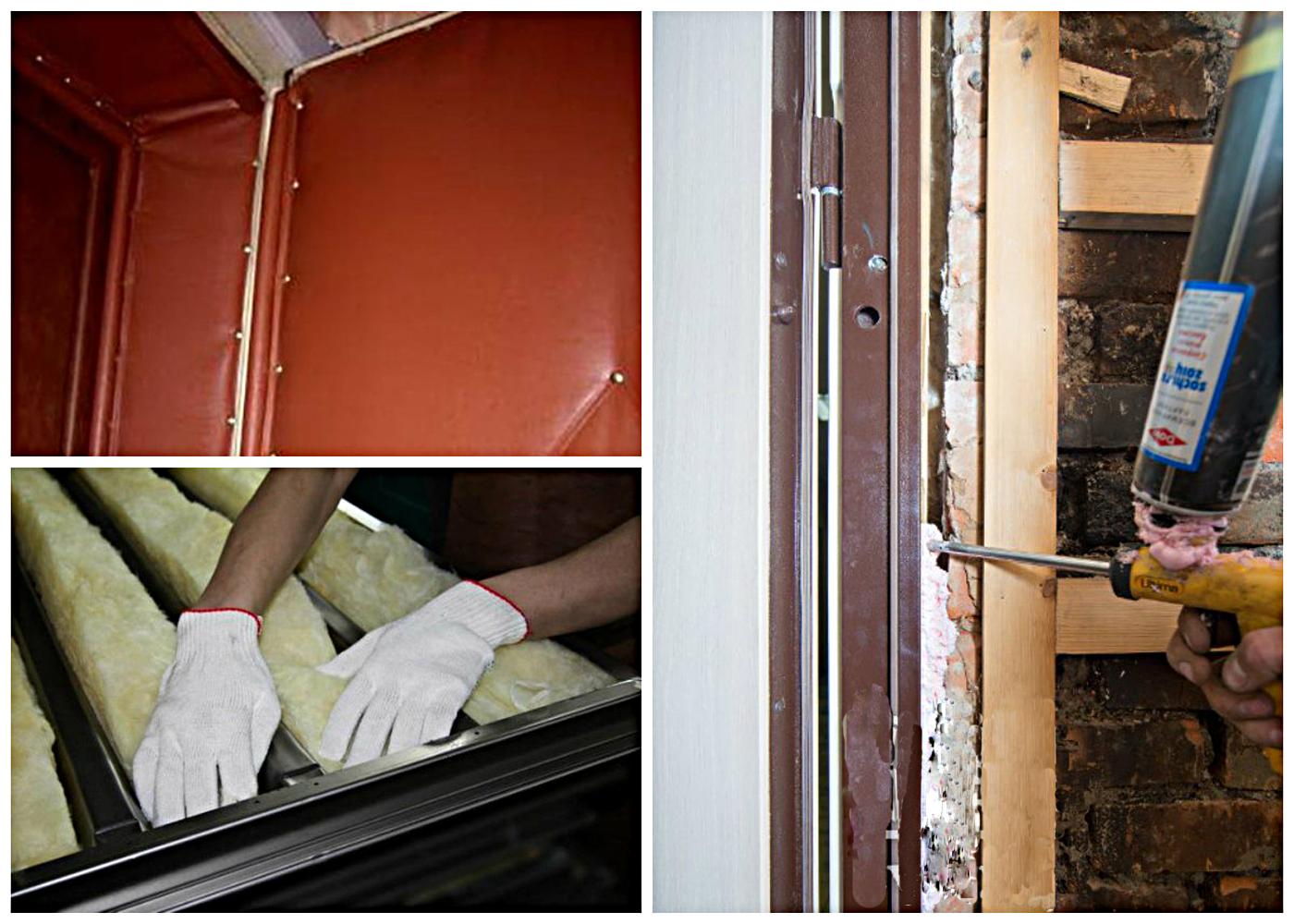 Как утепляют входную металлическую дверь и коробку. утеплённая закрытая коробка или открытая на входной двери?