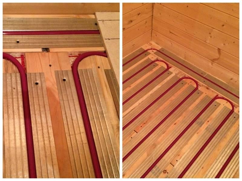 Водяной теплый пол в деревянном доме – все, что нужно знать