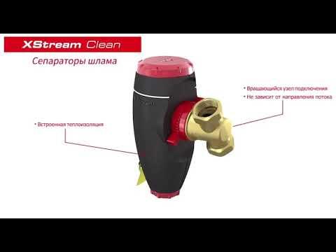 Сепараторы для удаления воздуха и шлама из жидкостных систем тепло- и холодоснабжения